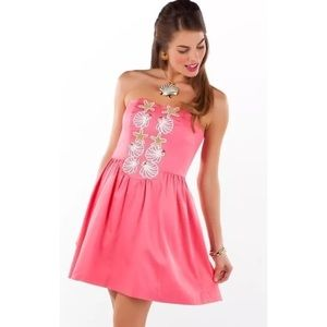Lilly Pulitzer Pink Beaded Mayfield Dress